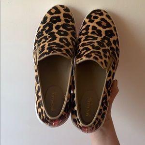 Keaton Leopard Calf Hair Slip-On Sneaker